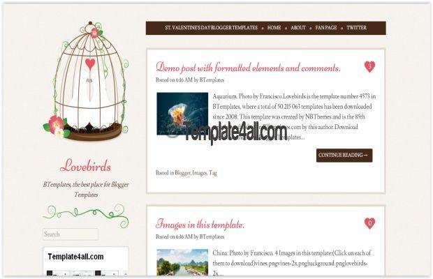 Cute Free Birds Blogger Theme Template Download - free cute blogger templates