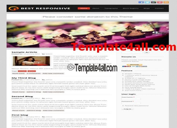Free Responsive Business Drupal 7 Theme Template Download