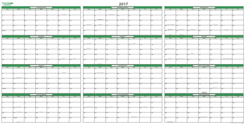 2017 Calendar Planner \u2013 templates free printable