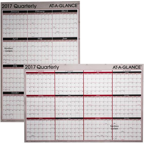 2017 Quarterly Calendar \u2013 templates free printable