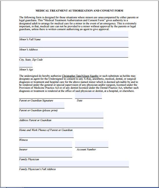 medical authorization form example | hitecauto.us