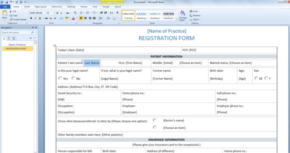 microsoft word forms template - Romeolandinez - medical templates for word