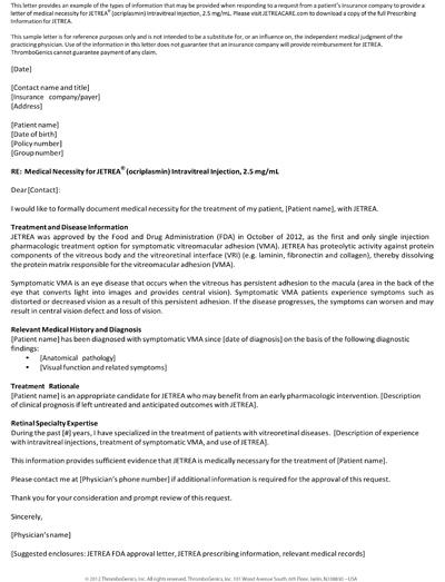 Letter Of Medical Necessity Form ophion - letter of medical necessity form