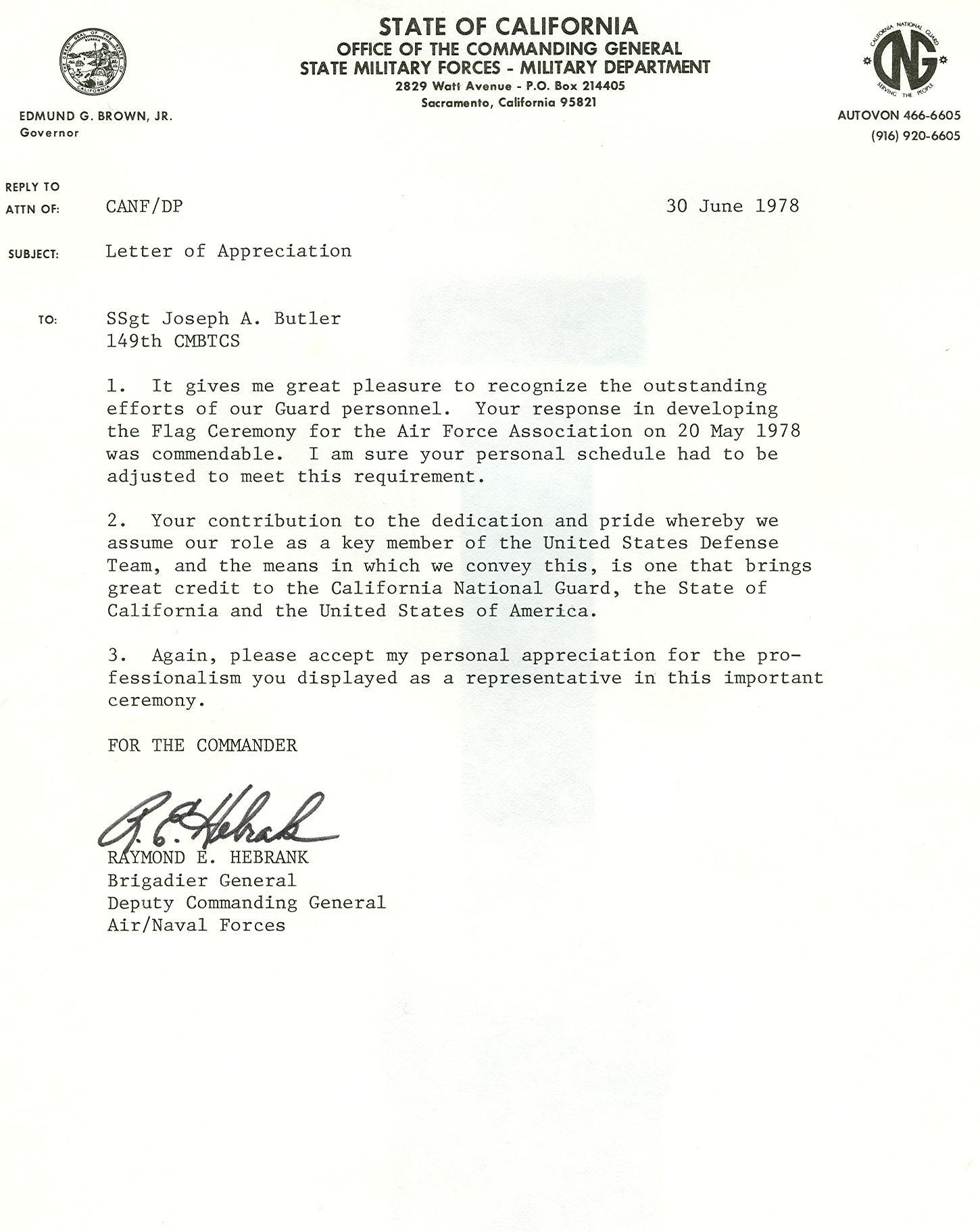 sample letter of recommendation for ocs