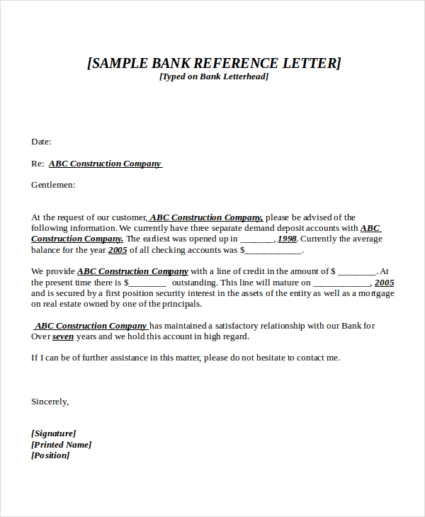 recommendation letter Format For Bank Account Opening \u2013 templates