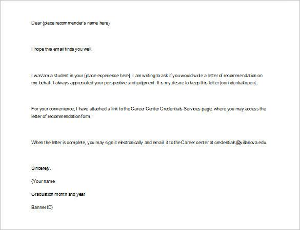 Recommendation Letter Format For Internship \u2013 templates free printable