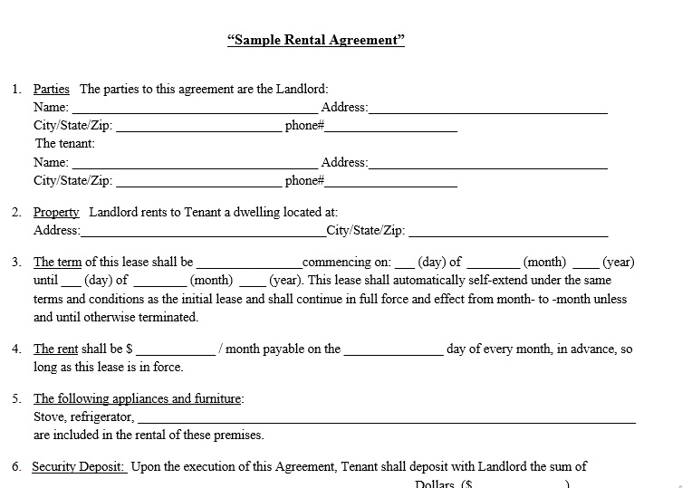 40+ Rental Agreement Sample Templates - TemplateHub - Sample Rental Agreements