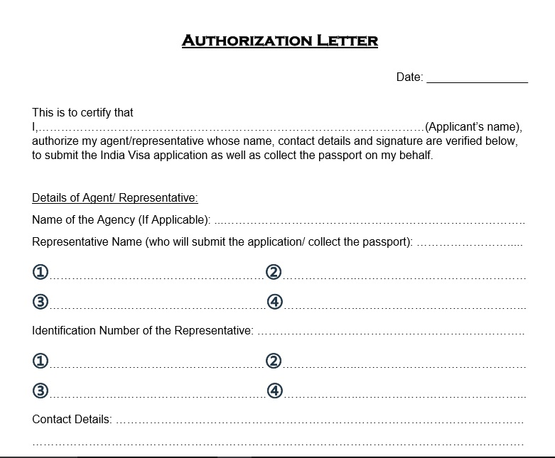 37 Free Authorization Letter Templates - TemplateHub - passport authorization letter