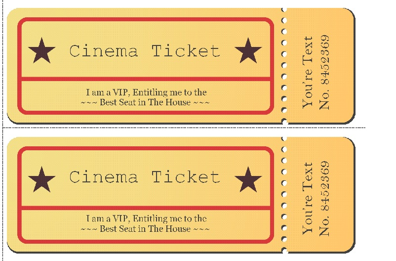 50+ Free Raffle  Movie Ticket Templates - TemplateHub