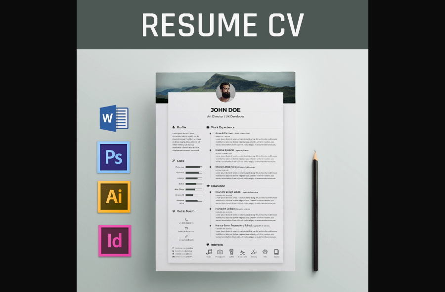 cv exemple package microsoft word