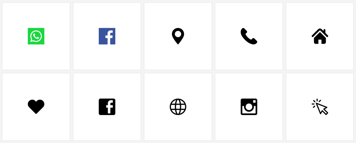 the resume icons