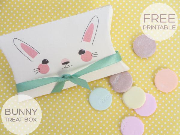 Easter Bunny Printable Treat Box