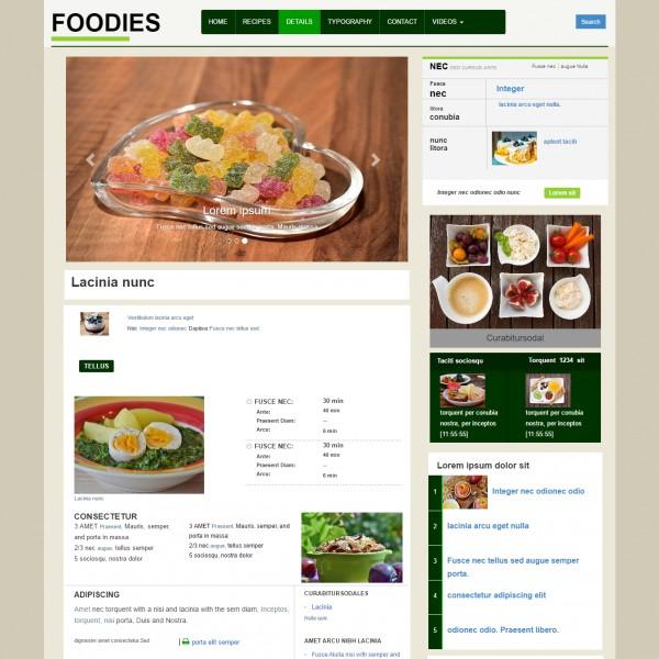 recipe website templates - Canasbergdorfbib
