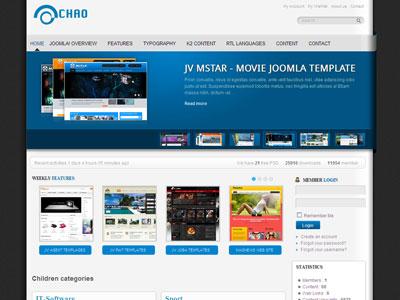 JV Chao Joomla Portfolio Template for Corporate Companies, Blog - online portfolio template