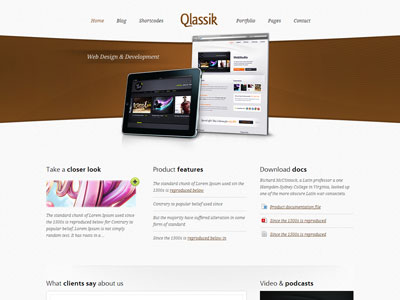 Qlassik Wordpress Website Design Theme for Portfolio Business - podcast website template