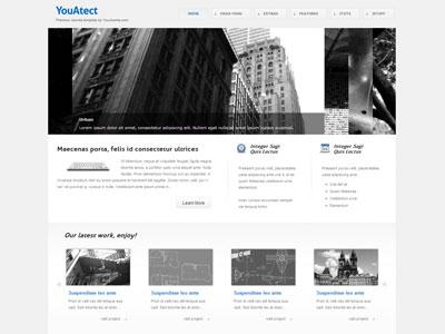 YouAtect Joomla Template for Online Portfolio Joomla Architect Template