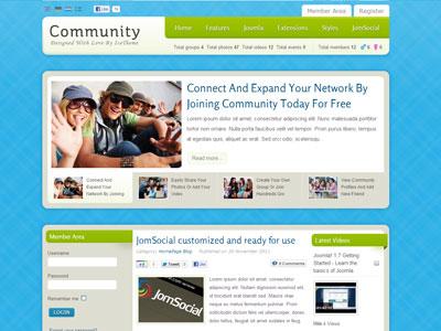 IT Community Joomla Template Joomla Social Network Template