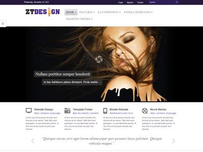 ZT Design Joomla Online Portfolio Template for Business Showcase - online portfolio template