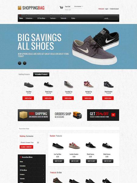 Shopping Bag Joomla Template Joomla Responsive eCommerce Template