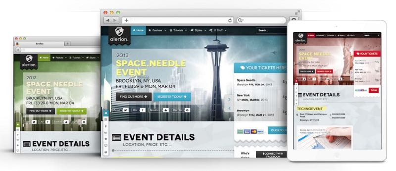 Alerion Joomla Event Management / Public Speaker Template - event management template