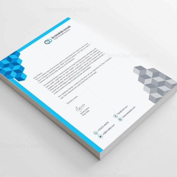 Corporate Letterhead Template - Template Catalog - corporate letterhead template