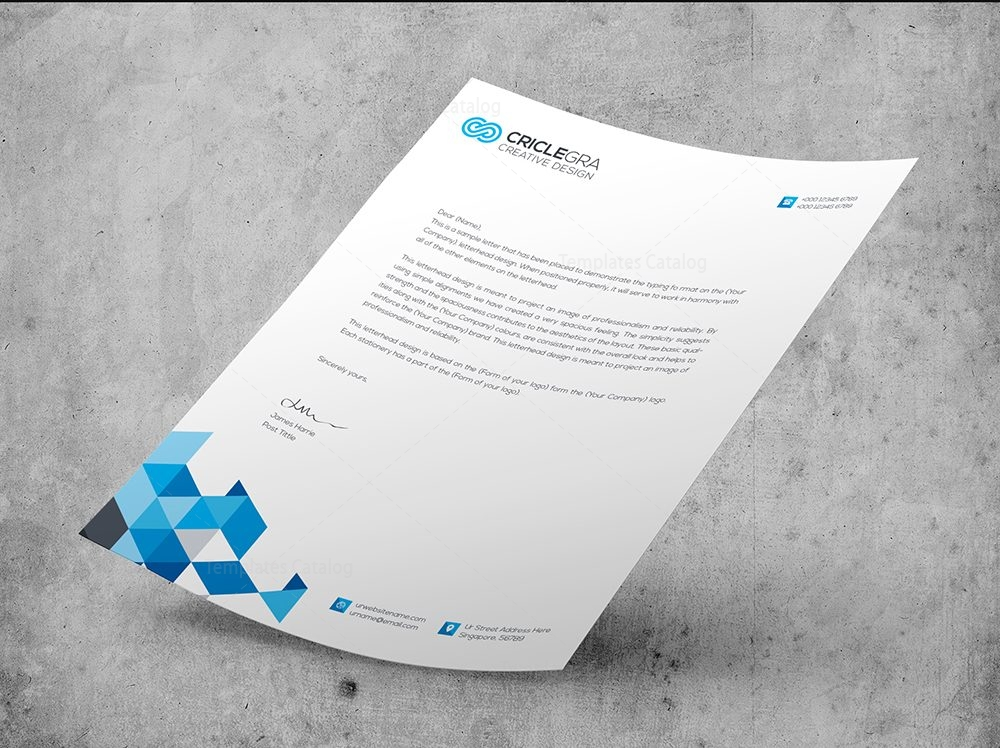 Elegant Corporate PSD Letterhead Templates 000027 - Template Catalog - psd letterhead template
