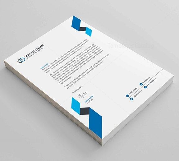 Clean Corporate Letterhead Design - Template Catalog
