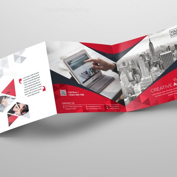 Square Tri-Fold Business Brochure Template - Template Catalog - tri fold business brochure