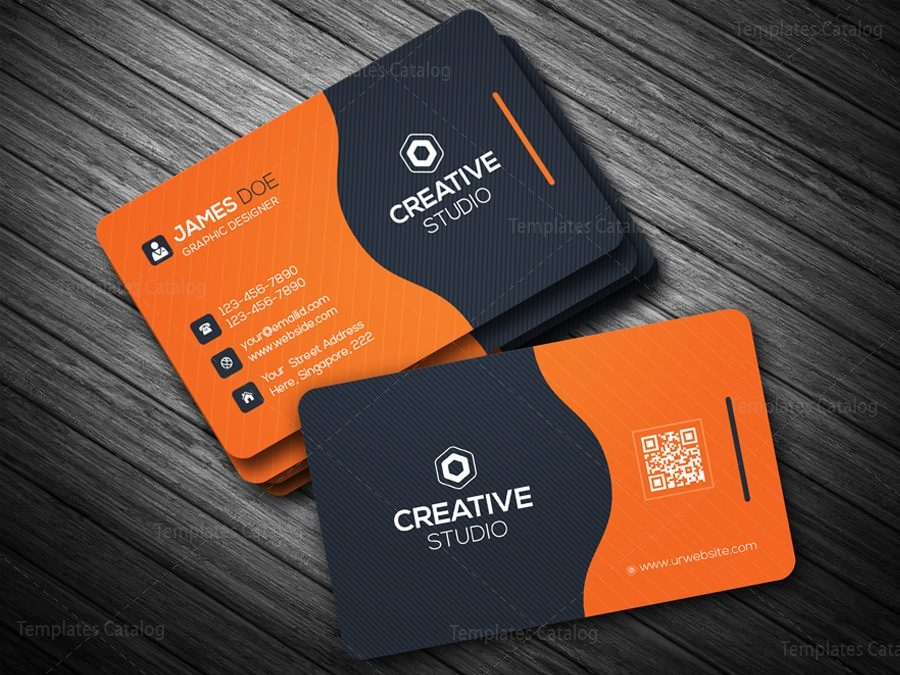 Business Card Template in EPS Format 000088 - Template Catalog
