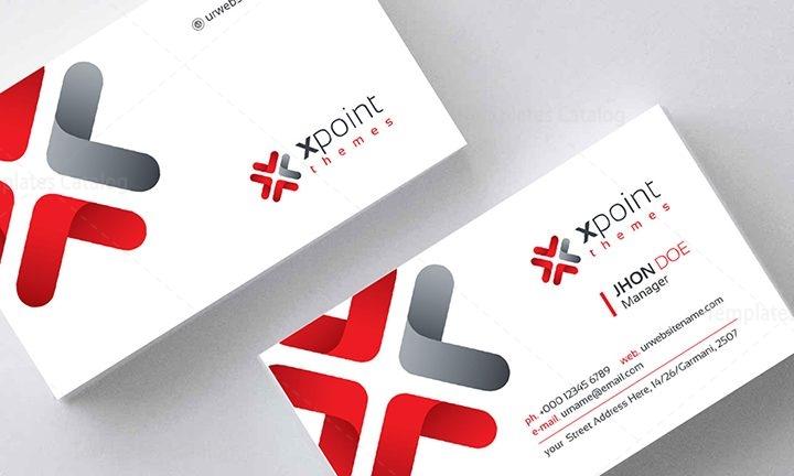 Corporate Business Card Design 000159 - Template Catalog - buisness card design