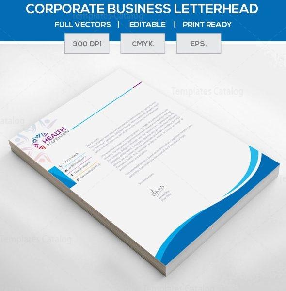 EPS Corporate Letterhead Template 000105 - Template Catalog - corporate letterhead template