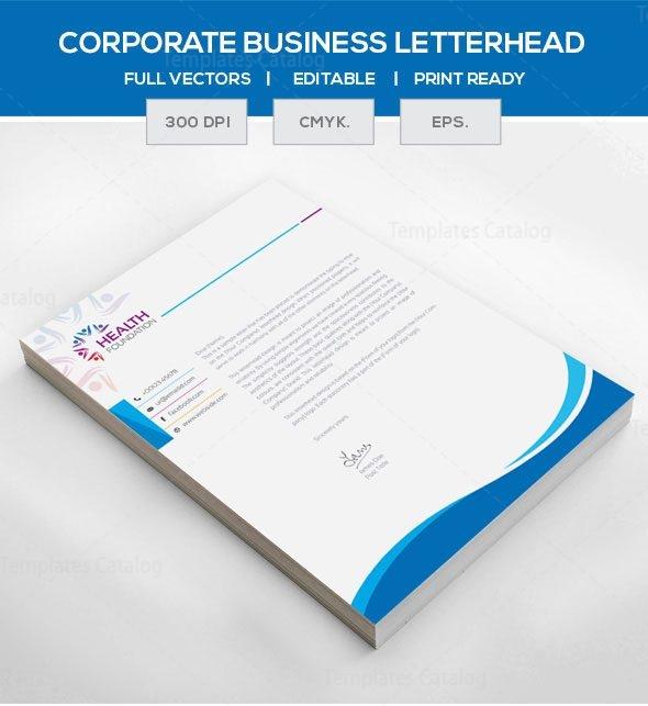 EPS Corporate Letterhead Template 000105 - Template Catalog
