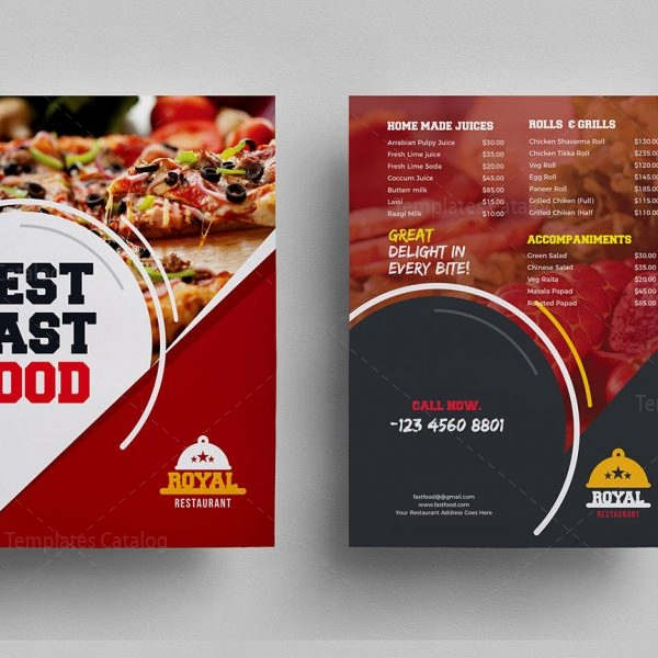 Food Menu Template for Restaurants 000312 - Template Catalog - food menu template