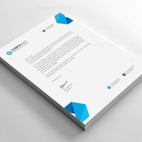 PSD Corporate Letterhead Template 000401 - Template Catalog - psd letterhead template