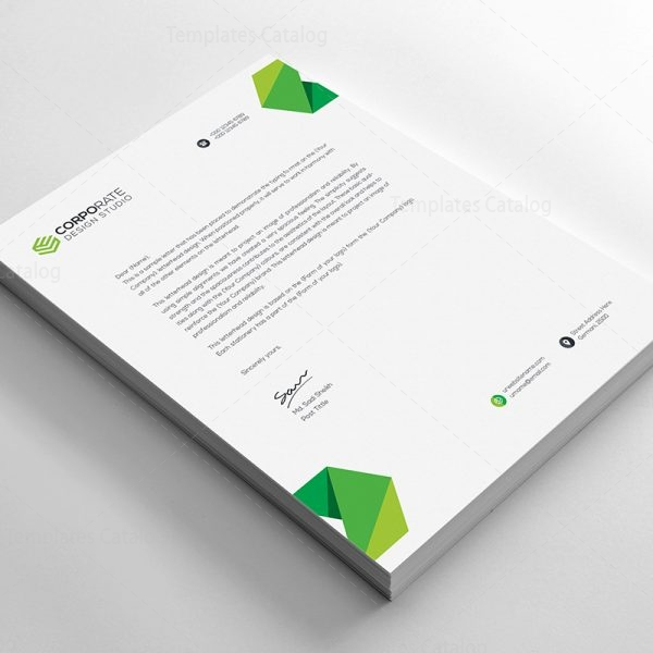 PSD Corporate Letterhead Template 000401 - Template Catalog - corporate letterhead template