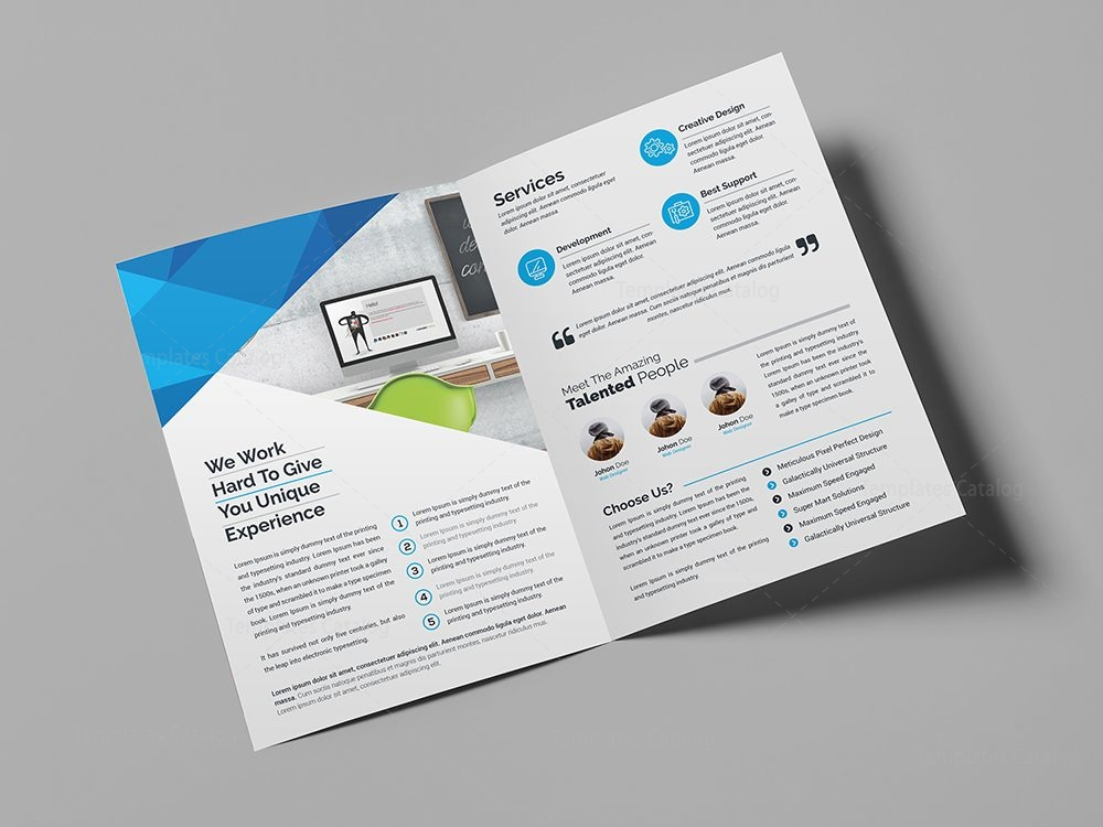 Professional Bifold Brochure Template 000440 - Template Catalog - membership brochure template