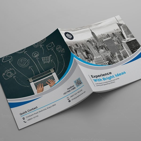 Bi-Fold Corporate Company Brochure Template 000588 - Template Catalog - Company Brochure Templates