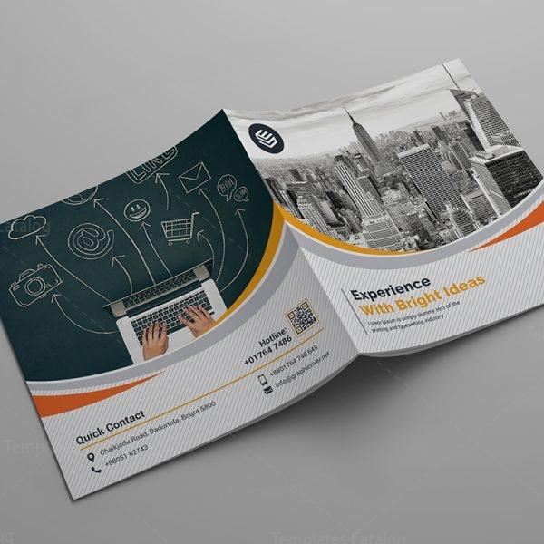 Bi-Fold Corporate Company Brochure Template 000588 - Template Catalog - company brochure templates