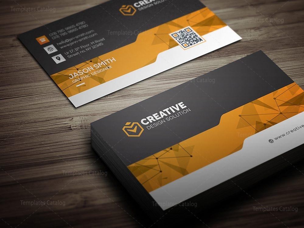 Creative Business Card Design Template 000462 - Template Catalog - card design template