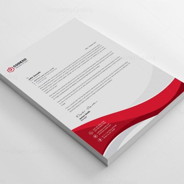 Professional Letterhead Sample 000497 - Template Catalog - letterhead sample