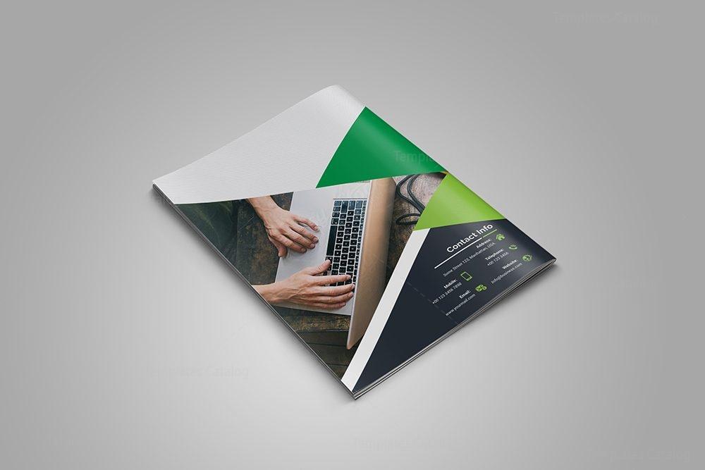 Emerald Bi-Fold Brochure Template 000715 - Template Catalog - emerald flyer template