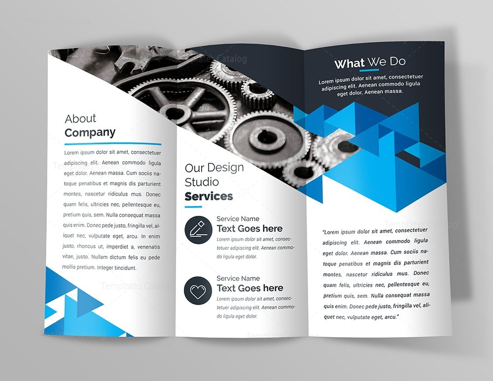 Premium Brochure Template with Triangle Shapes 000744 - Template Catalog - Product Brochure Template