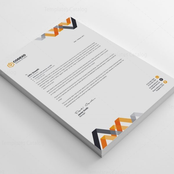 Chevron Professional Corporate Letterhead Template 000902 - Template