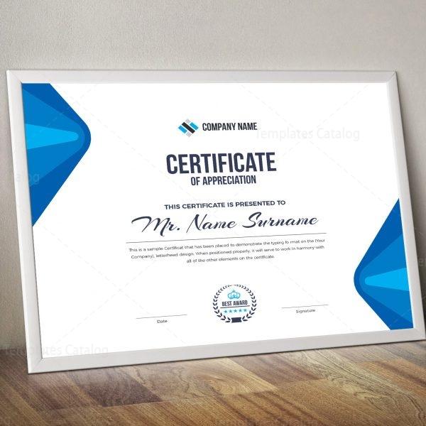 Elegant Corporate Certificate Template 000853 - Template Catalog - corporate certificate template