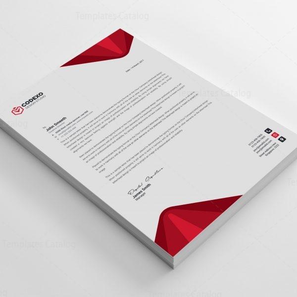 Elegant Professional Corporate Letterhead Template 000890 - Template