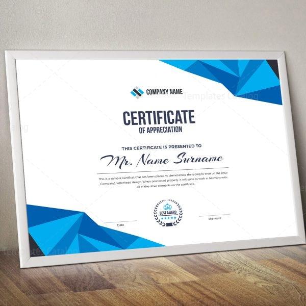 High Quality Elegant Corporate Certificate Template 000855 - corporate certificate template