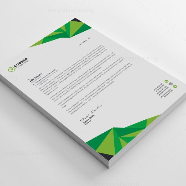 High Quality Professional Corporate Letterhead Template 000900
