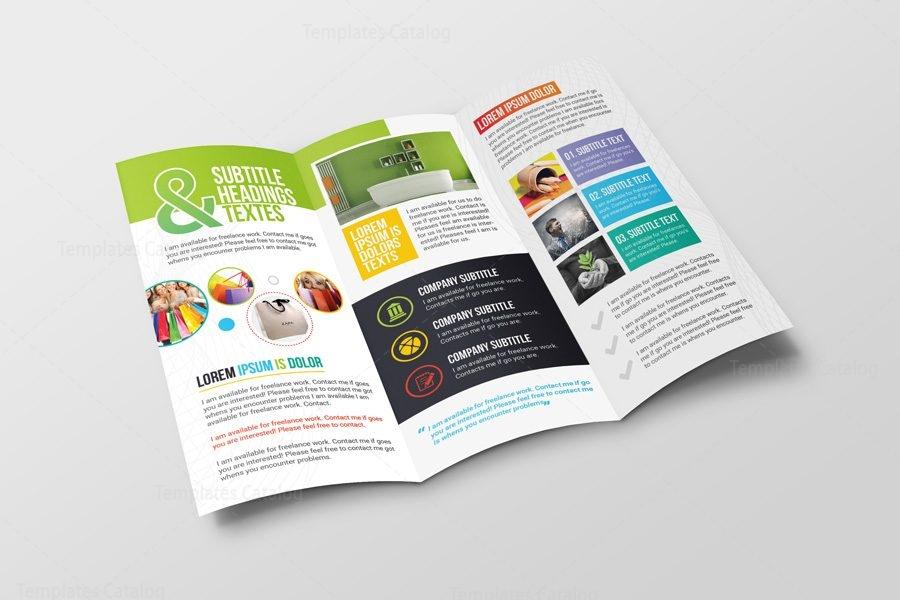 Athena Professional Corporate Tri-Fold Brochure Template 001214