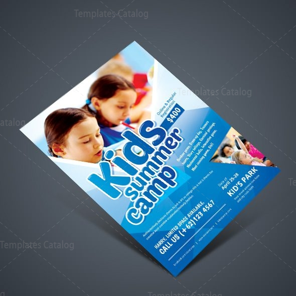 Stylish Kids Camp Party Flyer Template 001077 - Template Catalog - party brochure template