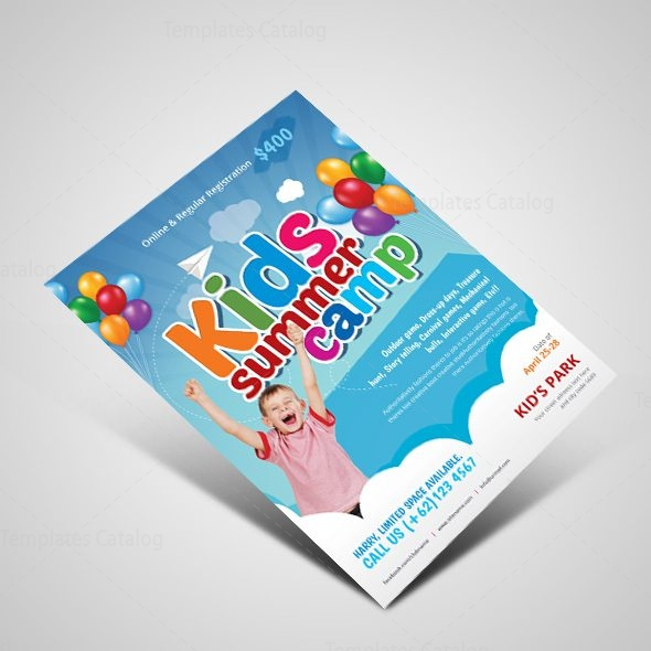 Excellent Kids Summer Camp Flyer Design Template 001525 - Template - Summer Camp Flyer Template